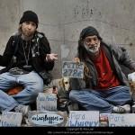Mendigos profissionais no Chiado