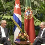 Marcelo com Raúl Castro