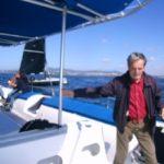 trabalho difícil no catamaran do CNCascais