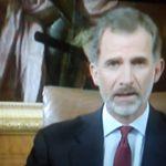 El-Rei Dom Filipe VI tranquiliza Espanha
